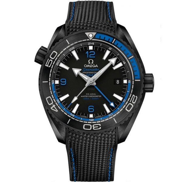 Omega Seamaster Planet Ocean 600M GMT Deep Black Blue 215.92.46.22.01.002 Watch