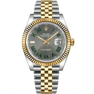 Replica Rolex Datejust 41mm Grey Dial Roman Two Tone 126333 Watch