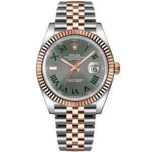 Replica Rolex Datejust 41mm Grey Roman Dial Two Tone 126331 Watch