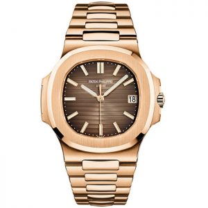 Replica Patek Philippe Nautilus Rose Gold 5711/1R-001 Brown Dial Watch