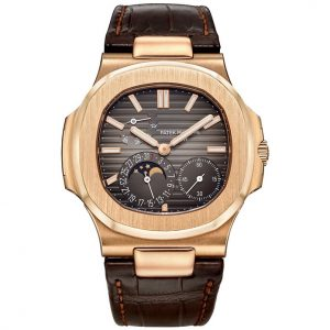 Replica Patek Philippe Nautilus Moon Phases Rose Gold 5712R-001 Watch