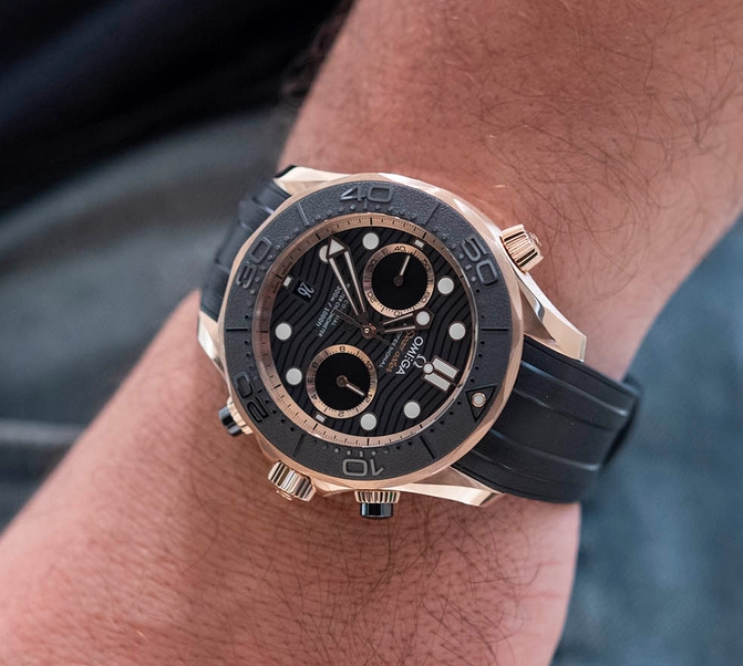 replica Omega Seamaster Diver 300M Chronograph rose gold 210.62.44.51.01.001 watch