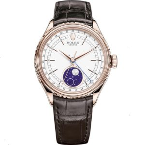 Replica Rolex Cellini Moonphase 39mm Rose Gold 50535 Watch