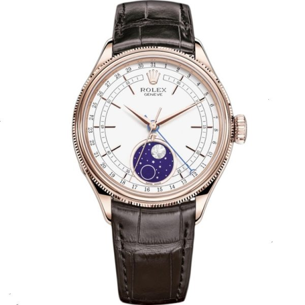 Rolex Cellini Moonphase 39mm Rose Gold 50535 Watch