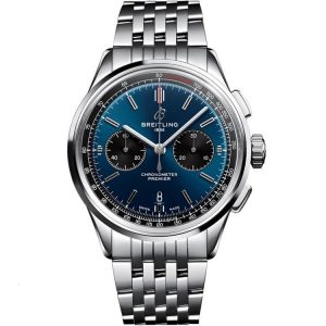 Replica Breitling Premier B01 Chronograph 42mm Blue Dial Watch A13315351C1A1