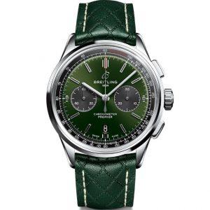 Replica Breitling Premier B01 Chronograph 42mm Bentley British Racing Green Watch AB0118A11L1X1