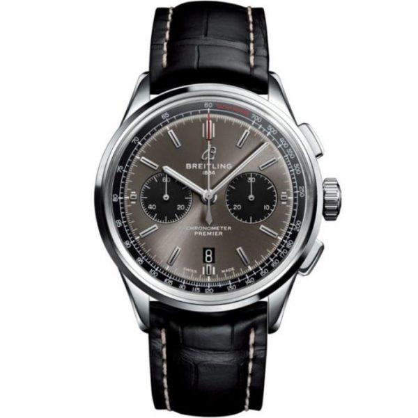 Breitling Premier B01 Chronograph 42mm Grey Dial Watch AB0118221B1P2