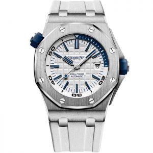 Replica Audemars Piguet Royal Oak Offshore Diver Steel White Dial 15710ST.OO.A010CA.01 Watch