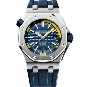 Replica Audemars Piguet Royal Oak Offshore Diver Blue Dial 15710ST.OO.A027CA.01 Watch