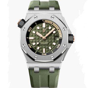 Replica Audemars Piguet Royal Oak Offshore Diver Trailblazing Khaki 15720ST.OO.A052CA.01 Watch