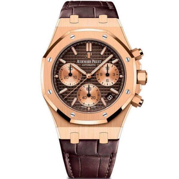Audemars Piguet Royal Oak Chronograph Rose Gold Brown Dial 26239OR.OO.D821CR.01 Watch