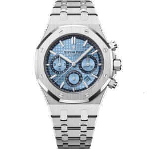 Replica Audemars Piguet Royal Oak Chronograph 38mm Ice Blue 26317BC.OO.1256BC.01 Watch