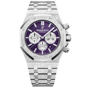 Replica Audemars Piguet Royal Oak Chronograph Frosted Gold Purple 26331BC.GG.1224BC.01 Watch