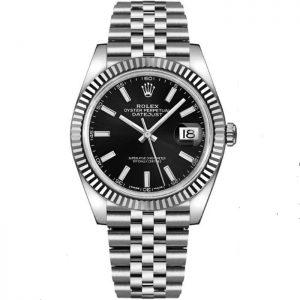 Rolex Datejust 41mm Black Dial Fluted Bezel 126334 Watch
