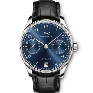 Replica IWC Portuguese 7 Day Automatic Blue Dial IW500710 Watch