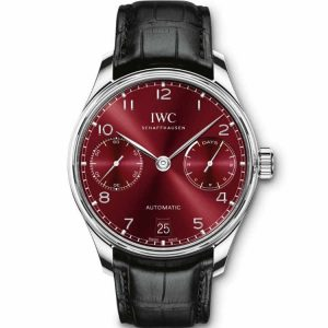 Replica IWC Portuguese 7 Day Automatic Red Dial IW500714 Watch