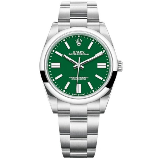 Rolex Oyster Perpetual 41mm Green Dial 124300 Watch