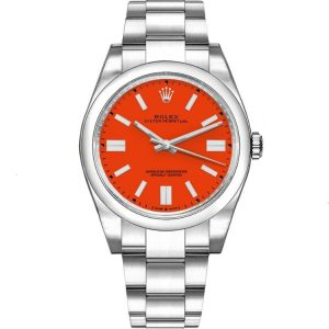 Replica Rolex Oyster Perpetual 41mm Red Dial 124300 Watch