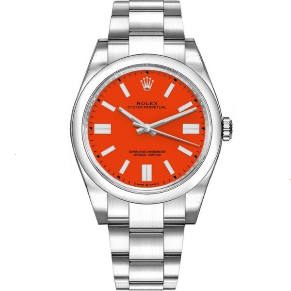 Rolex Oyster Perpetual 41mm Red Dial 124300 Watch