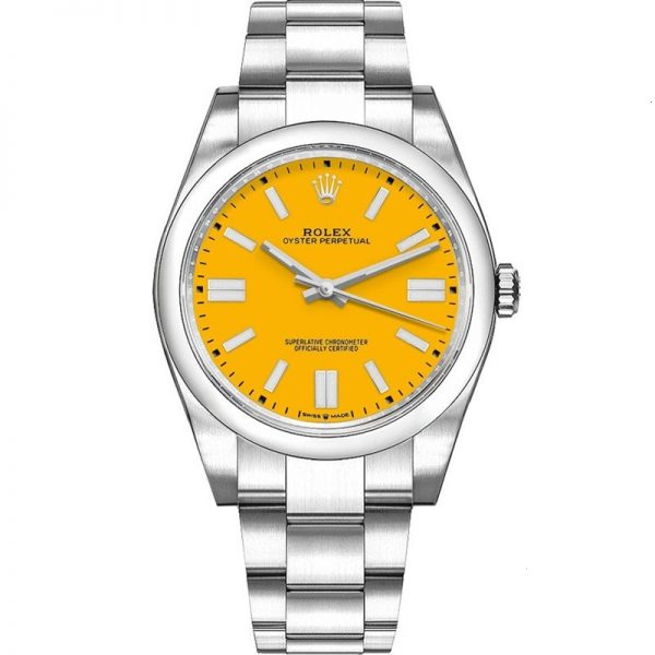Rolex Oyster Perpetual 41mm Yellow Dial 124300 Watch