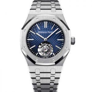 Replica Audemars Piguet Royal Oak Flying Tourbillon Blue Dial 26530ST.OO.1220ST.01 Watch