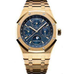 Replica Audemars Piguet Royal Oak Perpetual Calendar Yellow Gold 26574BA.OO.1220BA.01 Watch