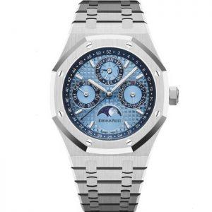 Replica Audemars Piguet Royal Oak Perpetual Calendar Ice Blue 26574PT.OO.1220PT.01 Watch