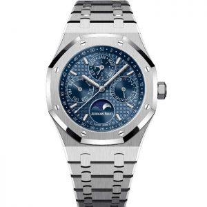Replica Audemars Piguet Royal Oak Perpetual Calendar Steel Blue Dial 26574ST.OO.1220ST.03 Watch
