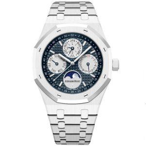 Replica Audemars Piguet Royal Oak Perpetual Calendar White Ceramic 26579CB.OO.1225CB.01 Watch