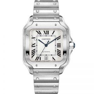 Replica Cartier Santos Large Model Steel WSSA0009 Watch