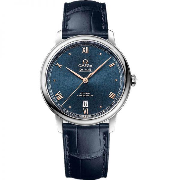 Omega De Ville Prestige Co-Axial 39.5mm Blue Dial Watch 424.13.40.20.03.004