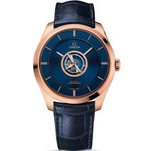 Replica Omega De Ville Tourbillon Sedna Gold Watch 528.53.44.21.03.001