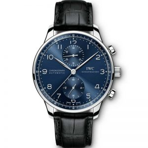 Replica IWC Portuguese Chronograph Automatic Blue Dial IW371491 Watch