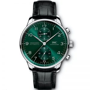 Replica IWC Portuguese Chronograph Automatic Green Dial IW371615 Watch