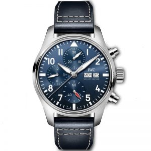 Replica IWC Pilot Chronograph Automatic Blue Dial IW388101 Watch