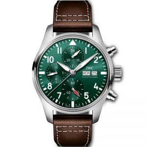 Replica IWC Pilot Chronograph Automatic Green Dial IW388103 Watch