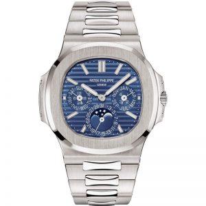 Replica Patek Philippe Nautilus Perpetual Calendar Blue Dial 5740/1G-001 Watch